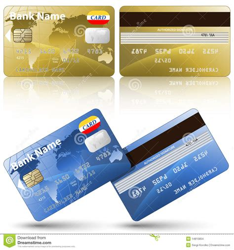 Maybe you would like to learn more about one of these? Credit Cards, Front And Back View Stock Images - Image: 14815854