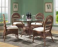 wicker dining room chairs Rattan Dining Set - Tigre Bay