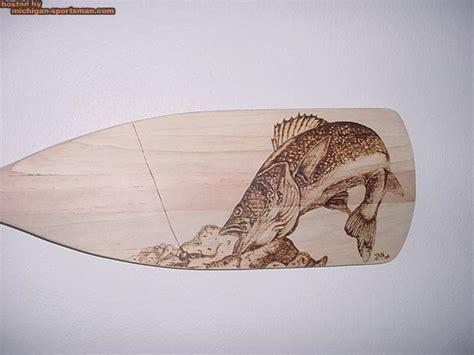woodburn art  canoe paddle walleye jig michigan