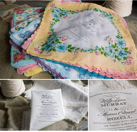 Life of a Vintage Lover: DIY Handkerchief Invitations
