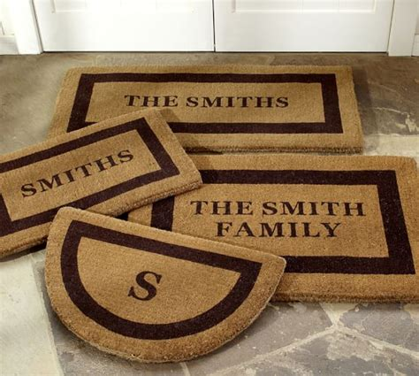 Personalized Outdoor Doormat by Personalized Doormat Pottery Barn