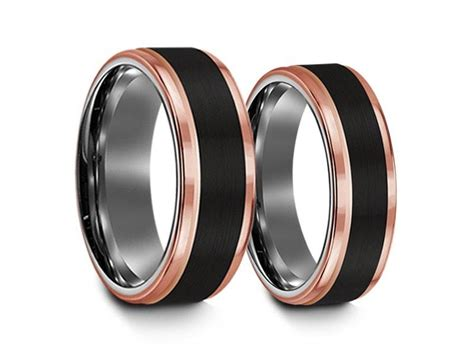 Tungsten Matching Wedding Bands Set