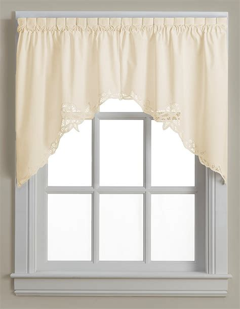 Battenburg Lace Curtains Ecru by Battenburg Lace Cotton Kitchen Curtain Swag Ecru