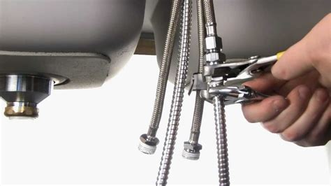 install a kitchen faucet how to install the ks881c kitchen faucet