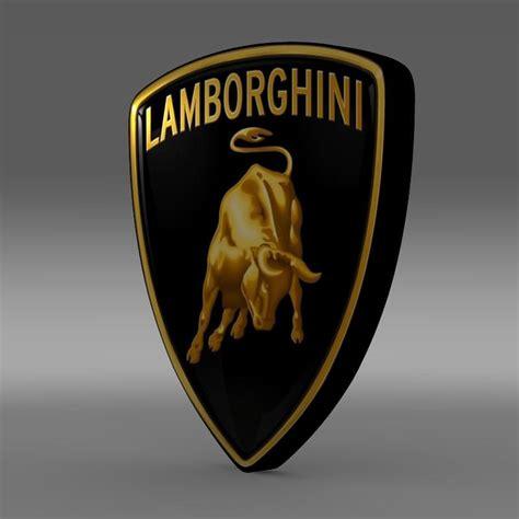 logo lamborghini 3d lamborghini logo 3d model max obj 3ds fbx c4d lwo