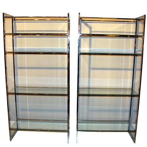 Etagere Cabinet by Pair Vintage Mid Century Chrome Metal Shelves Etagere