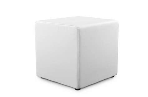 sofactory canapé tabouret cube blanc en simili aline design sur sofactory