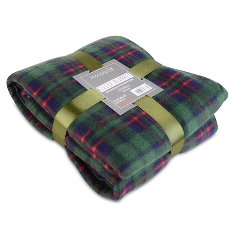 soft warm xcm double tartan check sofa throw bed