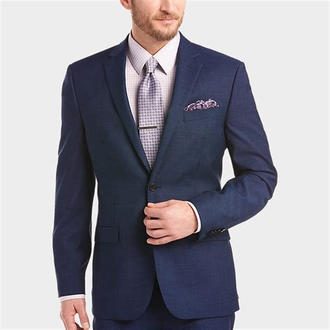 Mens Navy 3 Piece Slim Fit Suit  Hardon Clothes