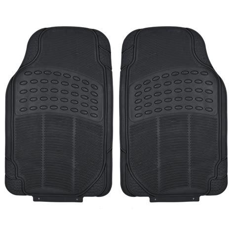 rubber car floor mats black rubber car floor mats front 2 set all weather