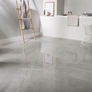 Resine Sol Blanc Brillant : carrelage sol et mur gris effet marbre rimini x ~ Premium-room.com Idées de Décoration