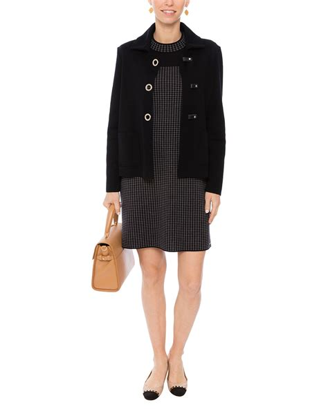 navy sweater dress dieppe navy and grey houndstooth sweater dress