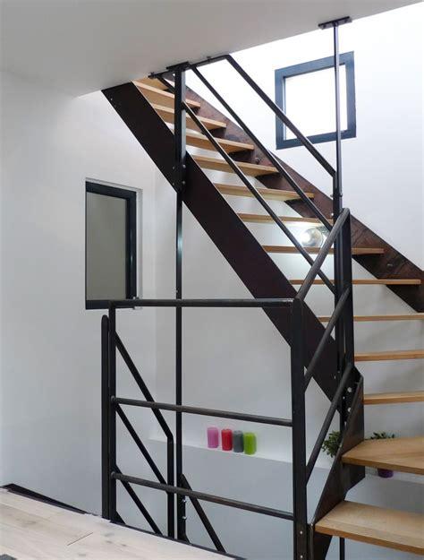escalier mixte bois metal 25 b 228 sta contre marche id 233 erna p 229 renovation escalier bois marche blanche och trappor