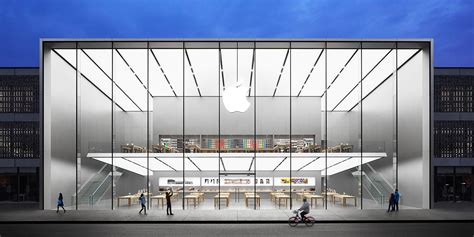 Opening Of Largest Apple Store In Asia Greeted By