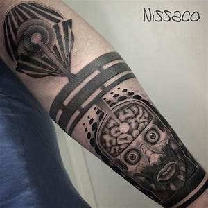 Blackwork Insane Tattoo on Arm  Best Tattoo Ideas Gallery