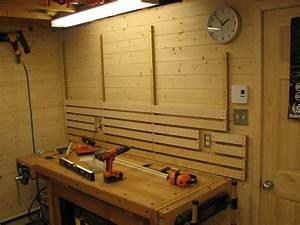 Rangement Outils Garage : systeme de rangement mural pour atelier decoration pinterest lumber storage garage ~ Melissatoandfro.com Idées de Décoration