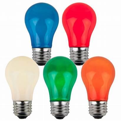 Bulbs Opaque E26 Base A15 Medium Multicolor