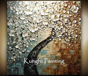 100% hand paint modern oil painting palette knife textured ...