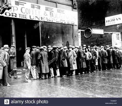 soup kitchen unemployed great depression stock