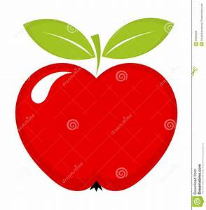 Red apple icon stock vector. Illustration of freshness ...