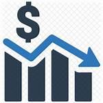 Icon Decrease Graph Economic Money Down Clip