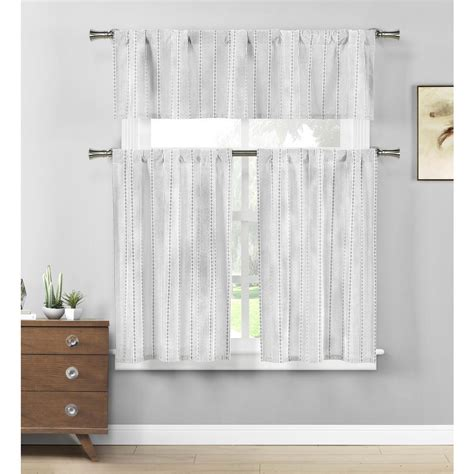 duck river kylie grey white kitchen curtain set