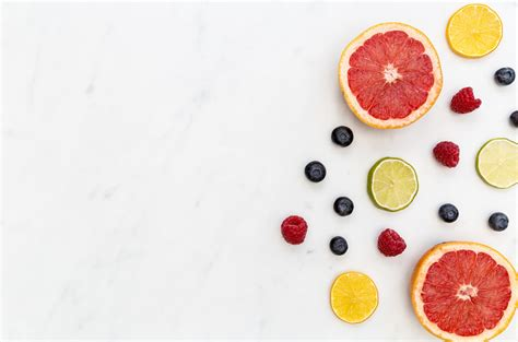 food backgrounds photos fruit berries food background on white marble
