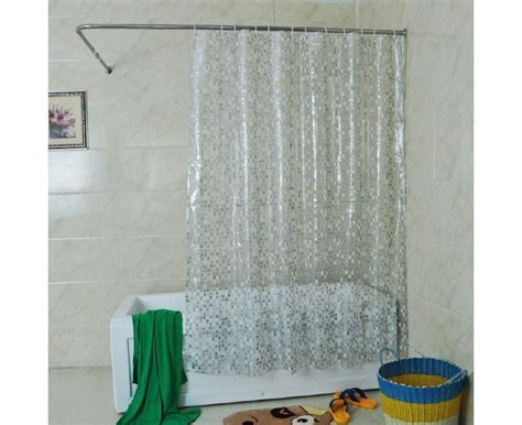 clear shower curtain solid square shower curtain 72 x 72 inch clear mylifeunit com