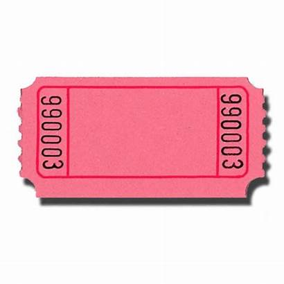 Blank Tickets Roll Pink Doolins Single