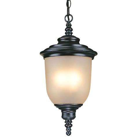 home depot outdoor hanging lights hton bay chelsea 3 light mediterranean bronze outdoor
