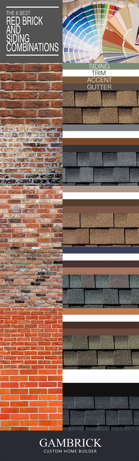what color siding goes with red brick stunning color