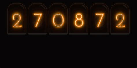 nixie tube cold cathode display random number generator