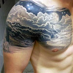 50, Cloud, Chest, Tattoos, For, Men
