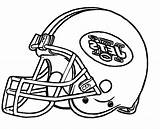 Coloring Football Helmet Pages York Nfl College Broncos Seahawks Giants Seattle Cowboys Steelers Dallas Cartoon Mets Carolina Ny Drawing Jets sketch template