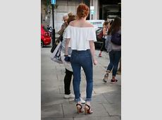 Eleanor Tomlinson in Jeans at BBC Radio One studios 03