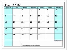Calendario enero de 2019 59DS Michel Zbinden