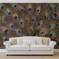magnificent peacock wall mural Peacock Feathers Wall Paper Mural | Buy at EuroPosters