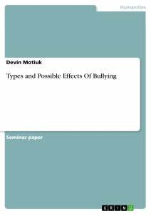 Example Of A Thesis Statement For An Essay Types Of Cyberbullying Essay Environmental Science Essays Term Papers And Essays also Science And Technology Essays Types Of Bullying Essay Essay About Television Types Of Bullying And  Paper Essay Writing