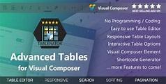 Tablenator v1.2.1 - Advanced Tables for Visual Composer - Free Graphics, Free WordPress Themes ...