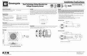 Installation Instructions Dual Technology Ceiling Mounted