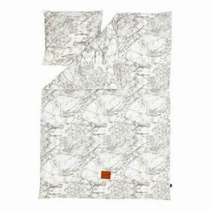 Housse De Couette Effet Marbre : parure de lit marbre adulte gris 140x200 cm ferm living le marbre decodeuse parure de ~ Melissatoandfro.com Idées de Décoration