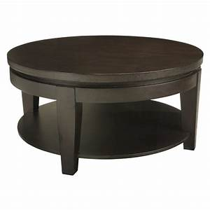 Asia round coffee table with shelf buy wooden coffee tables for Circle coffee table