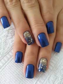 Navy blue nail art polish nails
