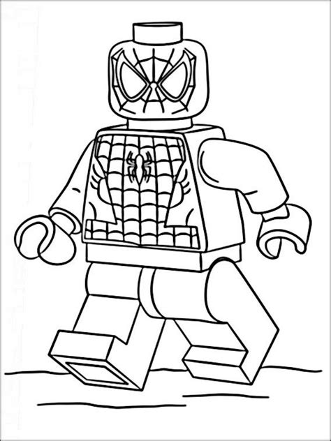 lego marvel heroes coloring pages 9 lego spiderman