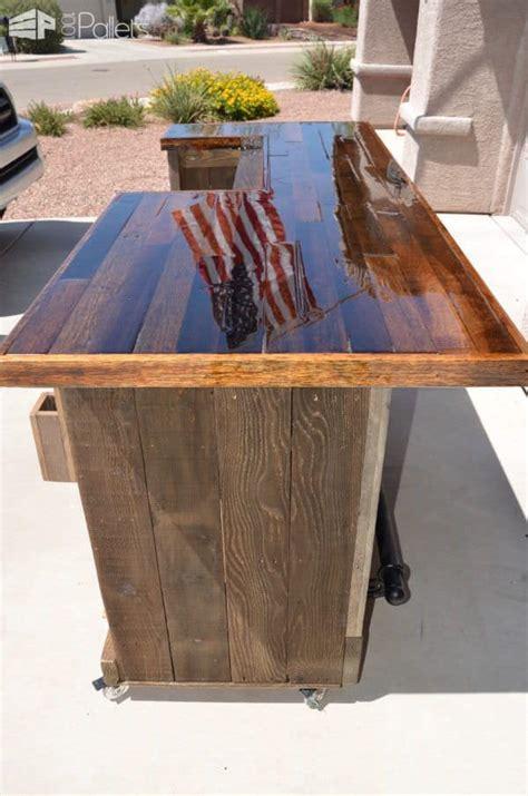 gorgeous pallet wood rolling bar  pallets