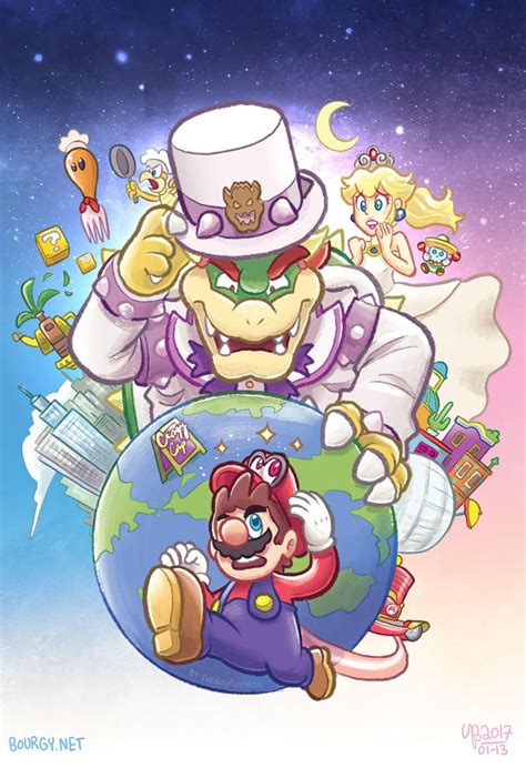 Lets A Go On An Odyssey By Thebourgyman Super Mario Art