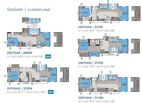 jayco greyhawk class  motorhome floorplans  large