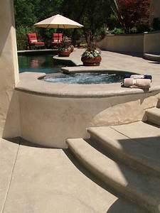 Pool Decks Colored With Davis Colors Concrete Pigments