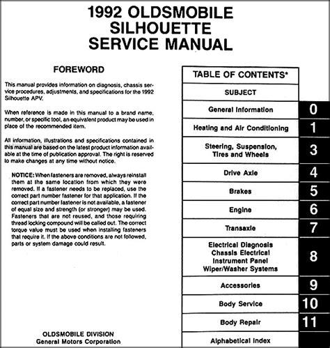 book repair manual 1992 oldsmobile silhouette electronic valve timing 1992 oldsmobile silhouette van repair shop manual 92 olds original oem service ebay
