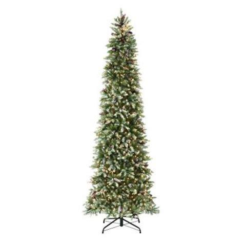 martha stewart living 9 ft indoor pre lit dunhill fir pencil slim artificial christmas tree